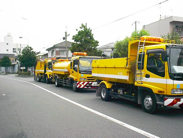 路面清掃作業状況